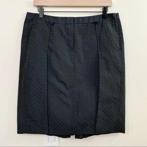 NEIL BARRETT Black Swiss Dot Pleated Skirt
